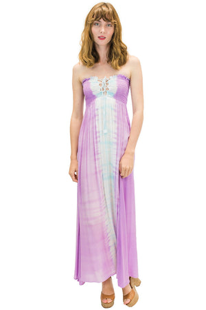 Kula Long Dress in Bold Purple
