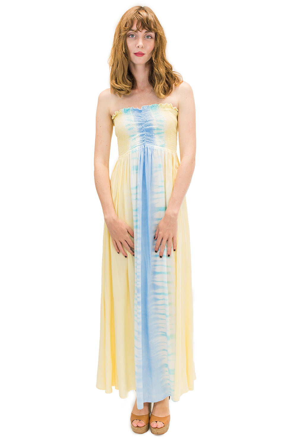 Kula Long Dress in Bold Yellow