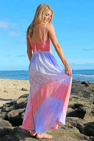 Kula Long Dress in Wave