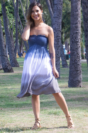 Kula Short Dress in Ombre