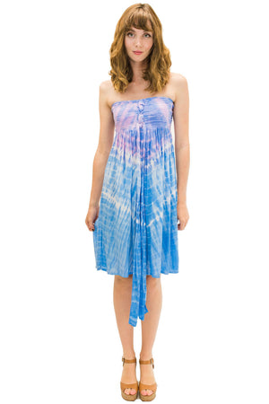 Lani Short Dress in Abstract Purple