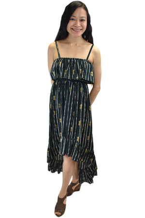 Lanikai Dress in Pineapple Print Black