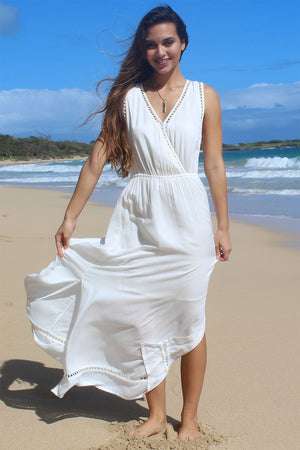 Nahele Long Dress White