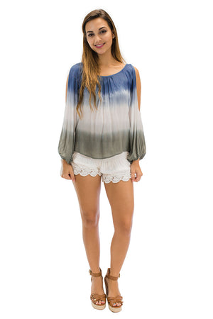 Nola Blouse in Ombre Navy