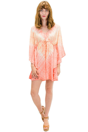 Ocean Tunic in Abstract Coral