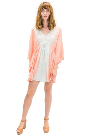 Ocean Tunic in Bold Coral