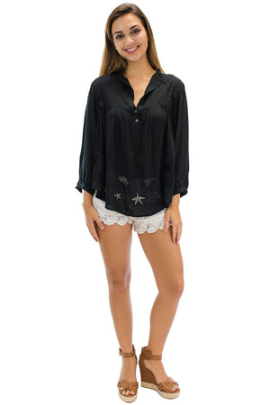 Sea Blouse Black