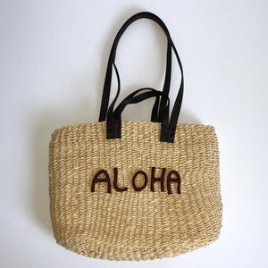 Aloha Hawaiian Seagrass Bag
