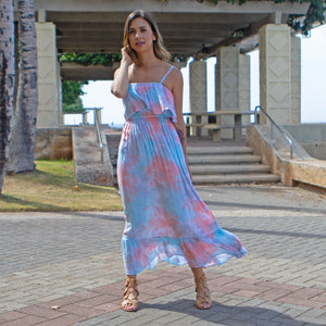 Moana Long Dress in Smoke Coral