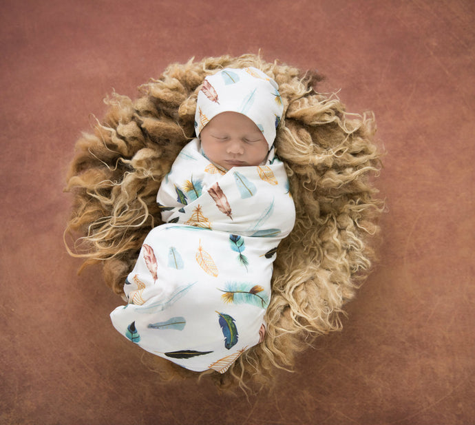 Dreamweaver baby wrap and Beanie set