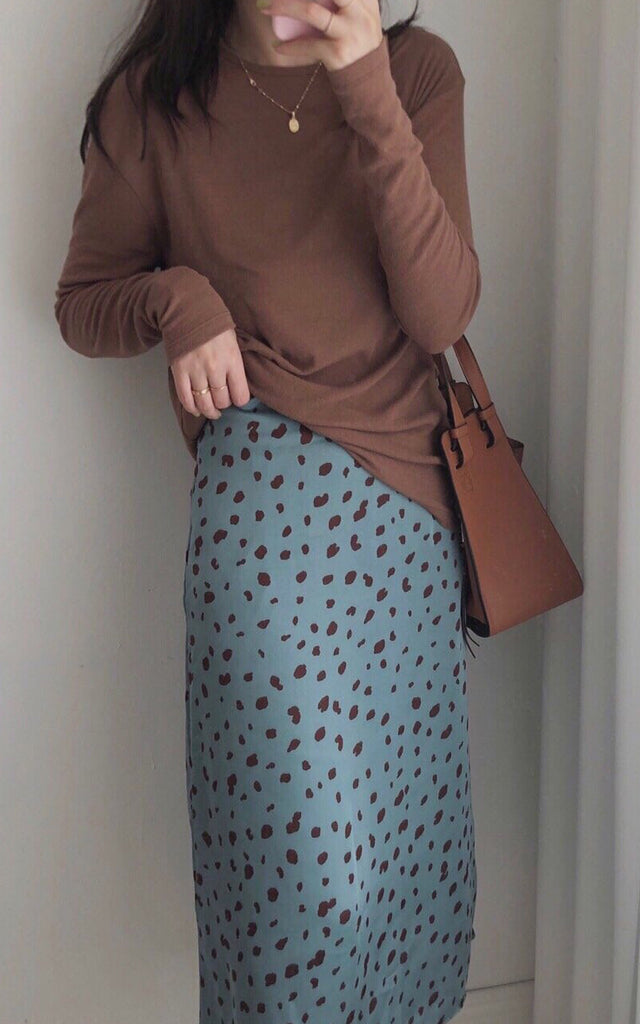 Printed Silky Skirt