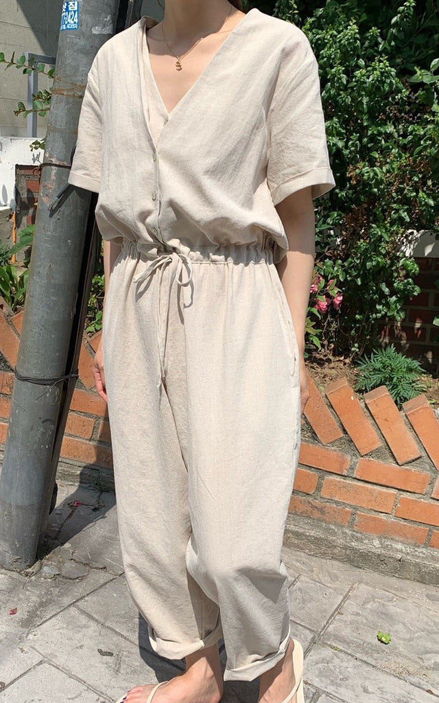 New Double V-Neck Jumpsuit