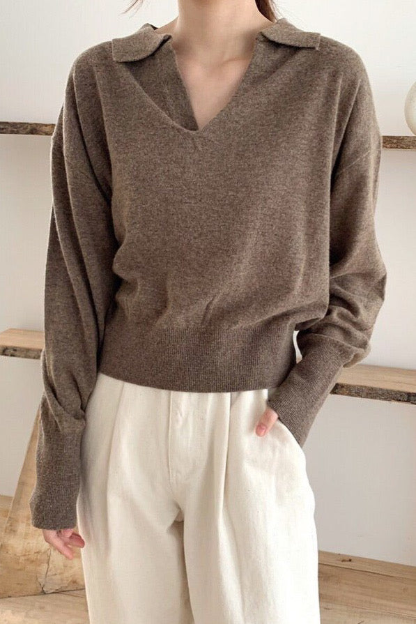 Wool Polo Knit Sweater