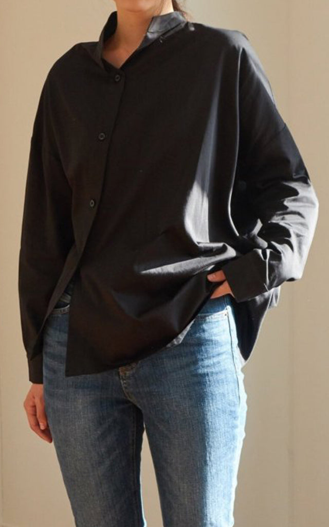 Asymmetrical Shirt (Black)