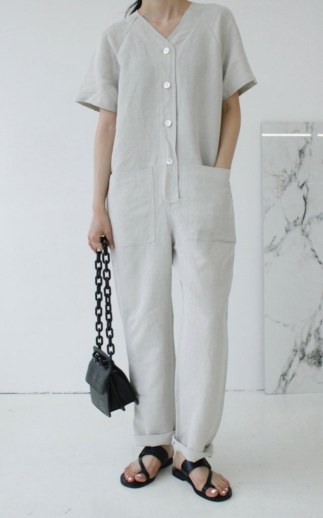 Linen Pocket Jumpsuit