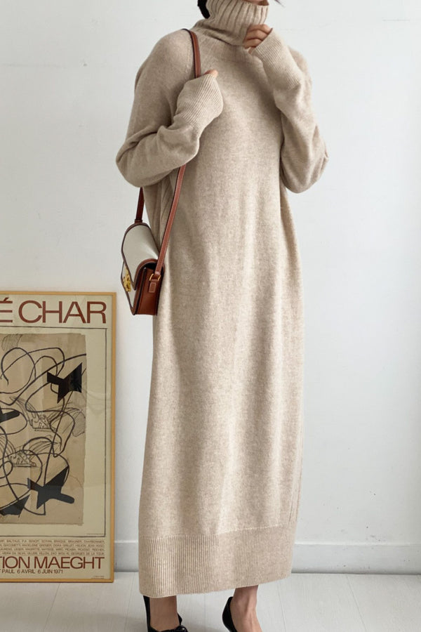 Whole Garment Turtleneck Dress