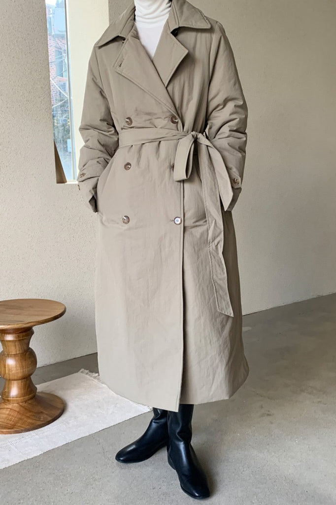 Mute Padding Trench Coat