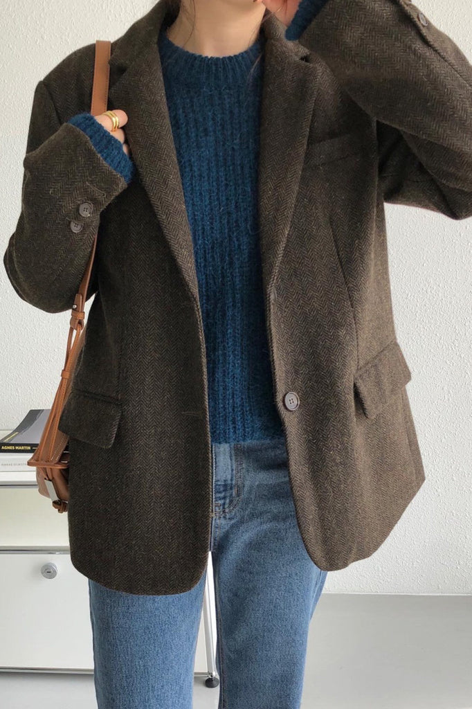 Wool Herringbone Jacket
