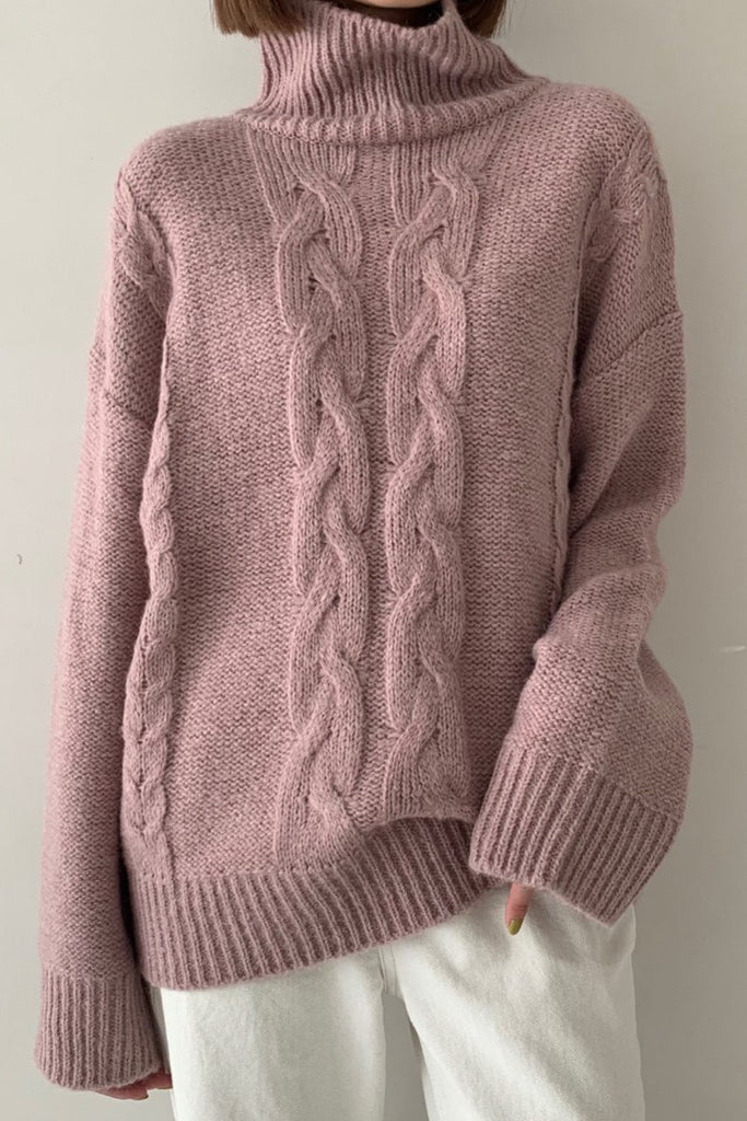 Alpaca Cable Turtleneck