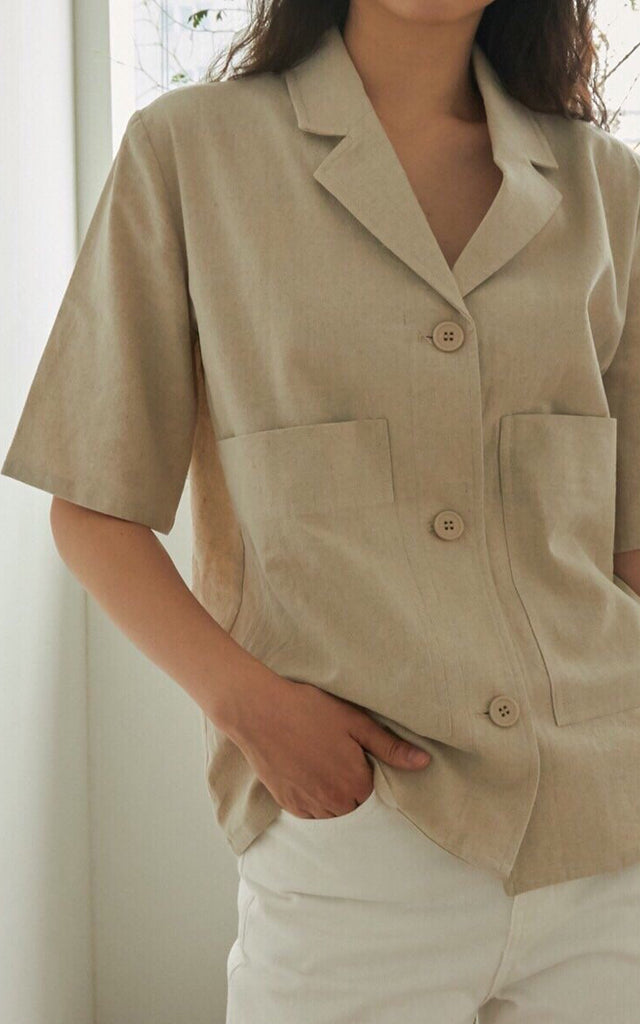 Linen Short Sleeve Jacket
