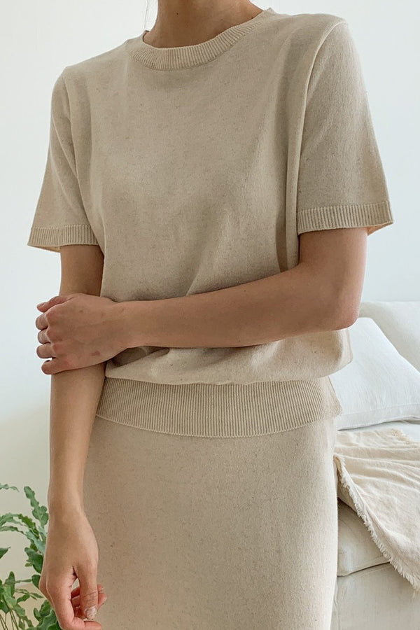 One Linen Knit Set