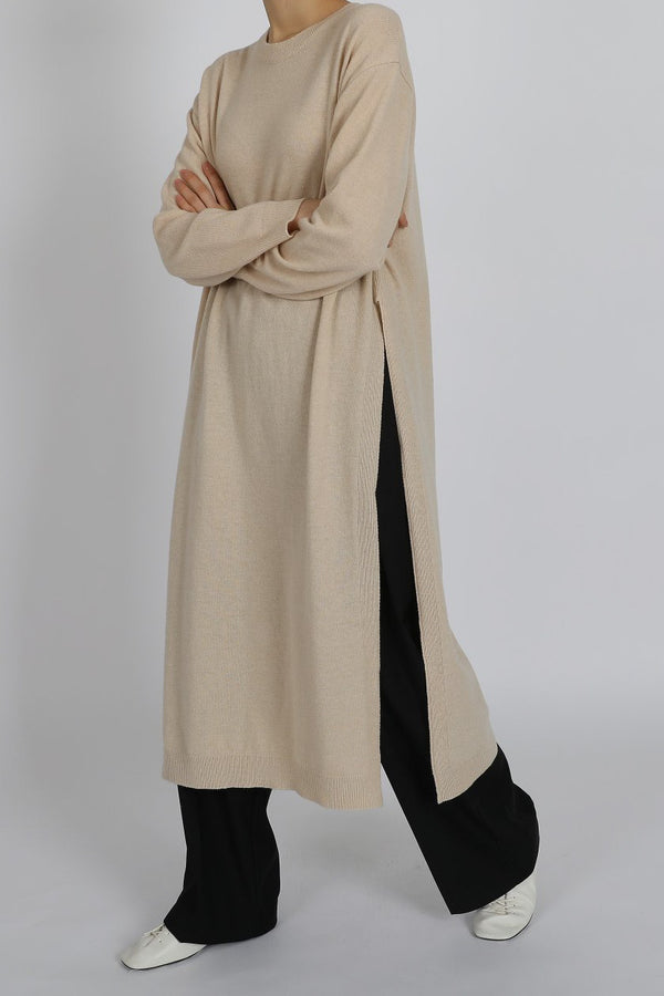 Long Slit Tunic Knit
