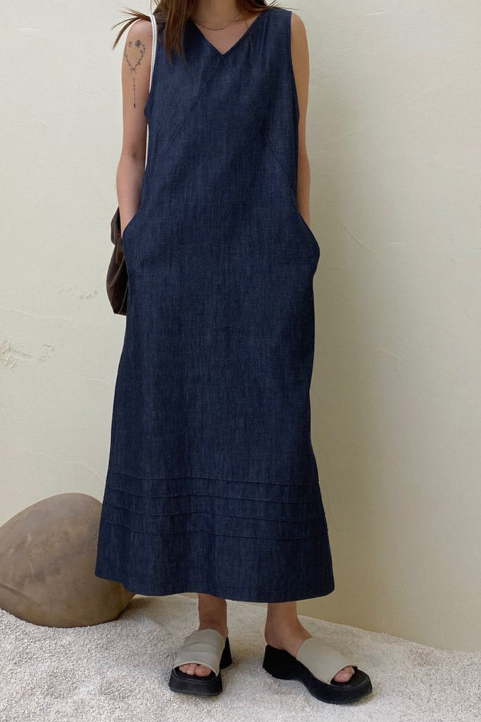 Raw Denim Stitch Dress