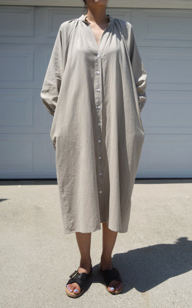 Shirt Dress (Beige)