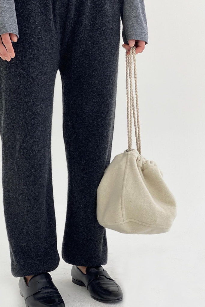 Wool Drawstring Bag