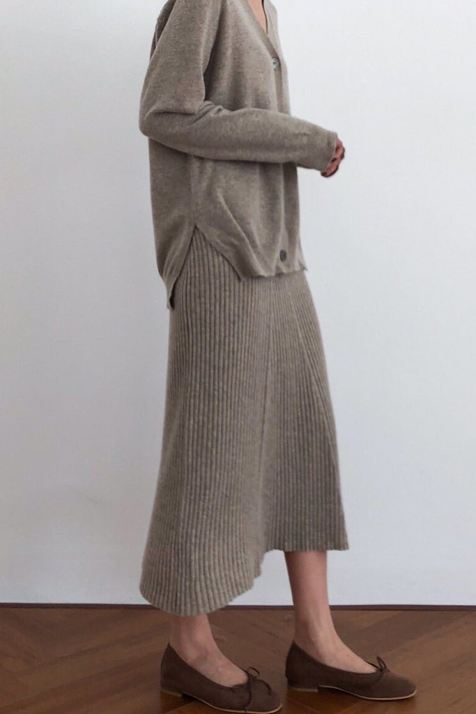 Cashmere Flare Skirt