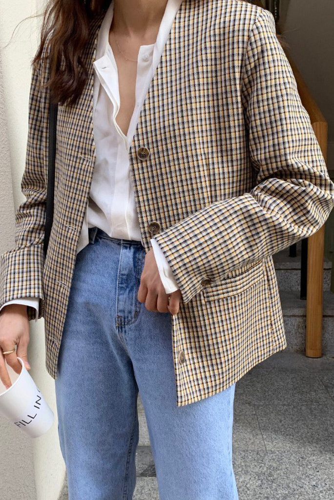Simple Check Jacket