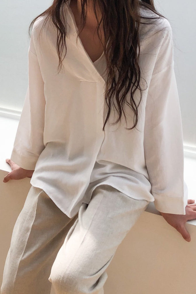 Linen Pull On Blouse