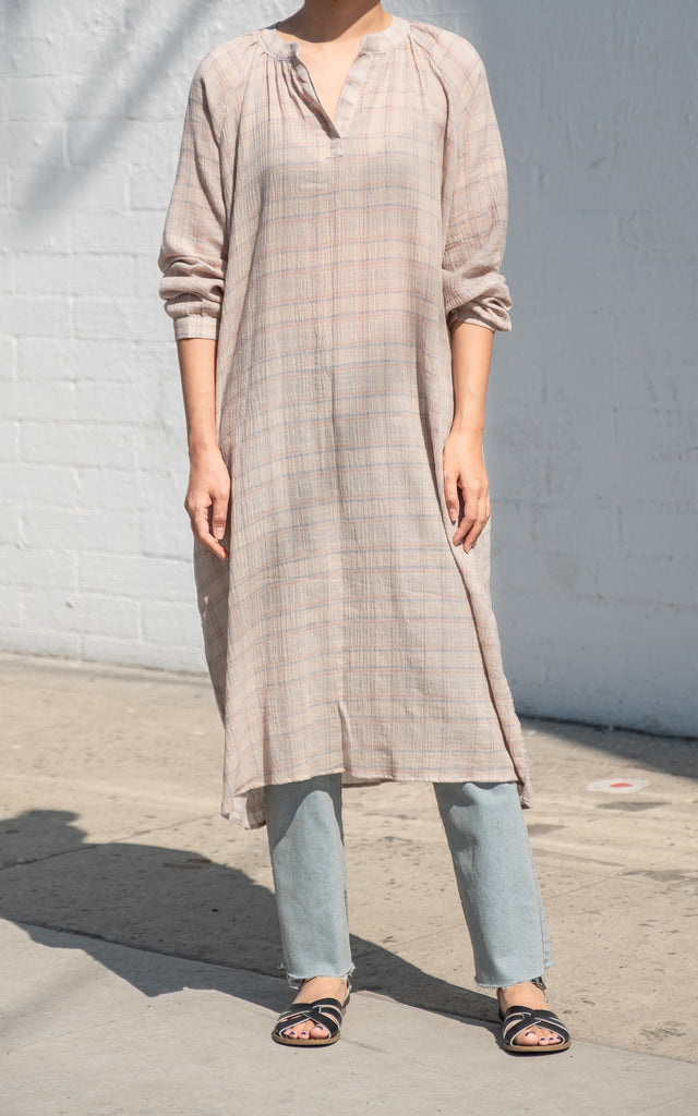 Light Weight Plaid Dress