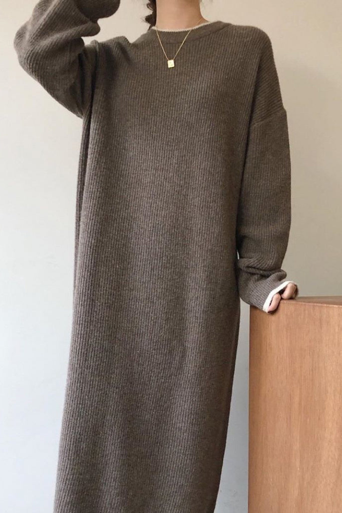 Easy Wool Sweater Dress