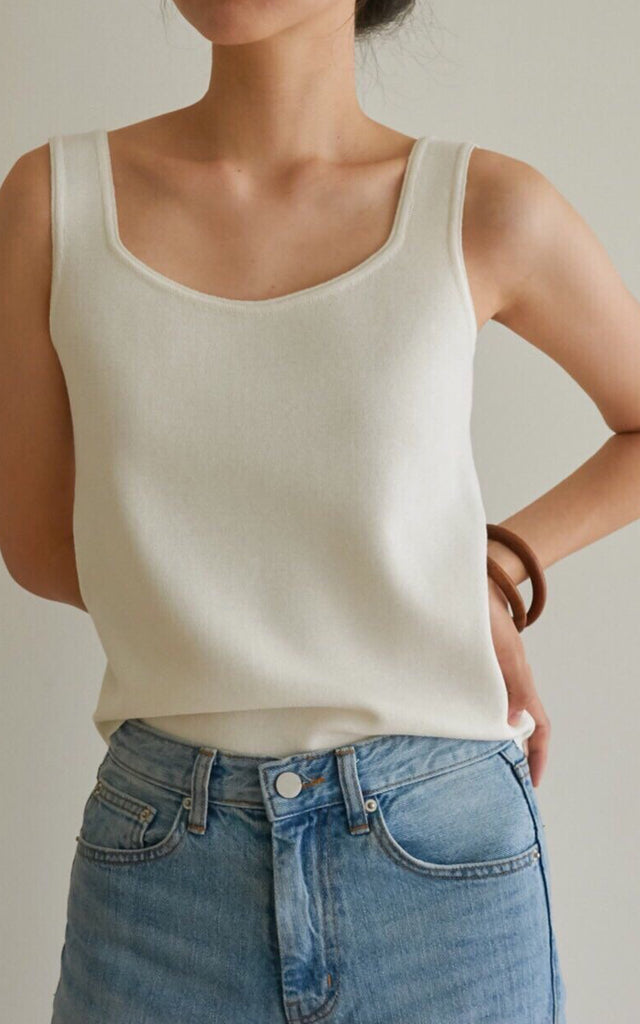 Piping Knit Tank Top