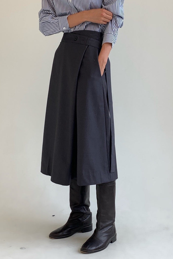 Button Wrap Skirt