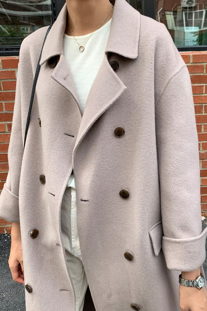 Double Button Handmade Coat