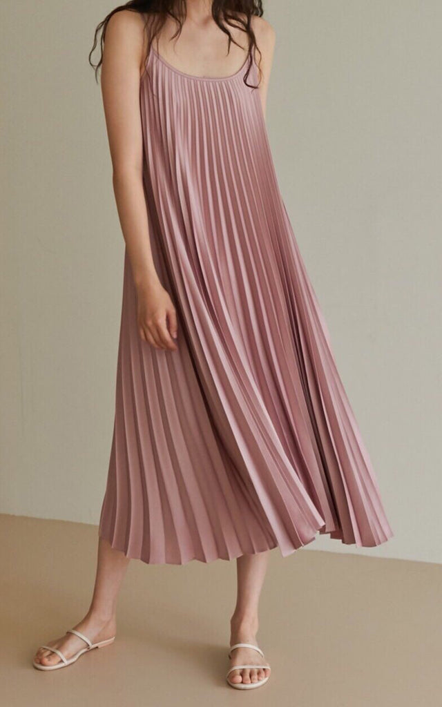 Silky Pleated Dress