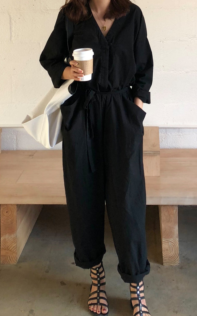 Oversized Belted Jumpsuit