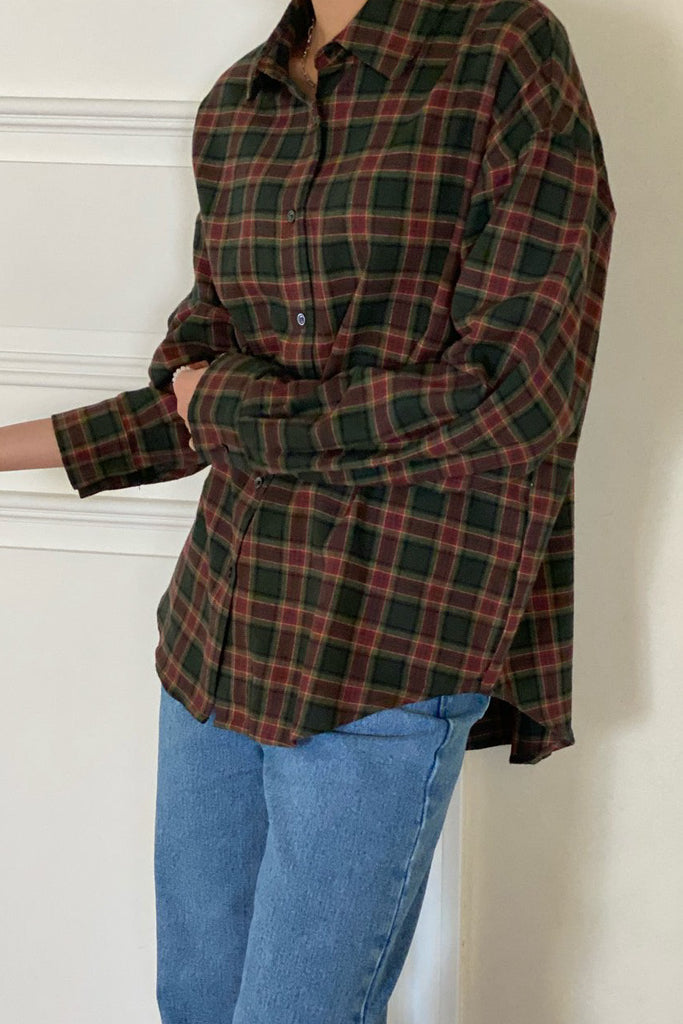 Autumn Light Plaid Shirt