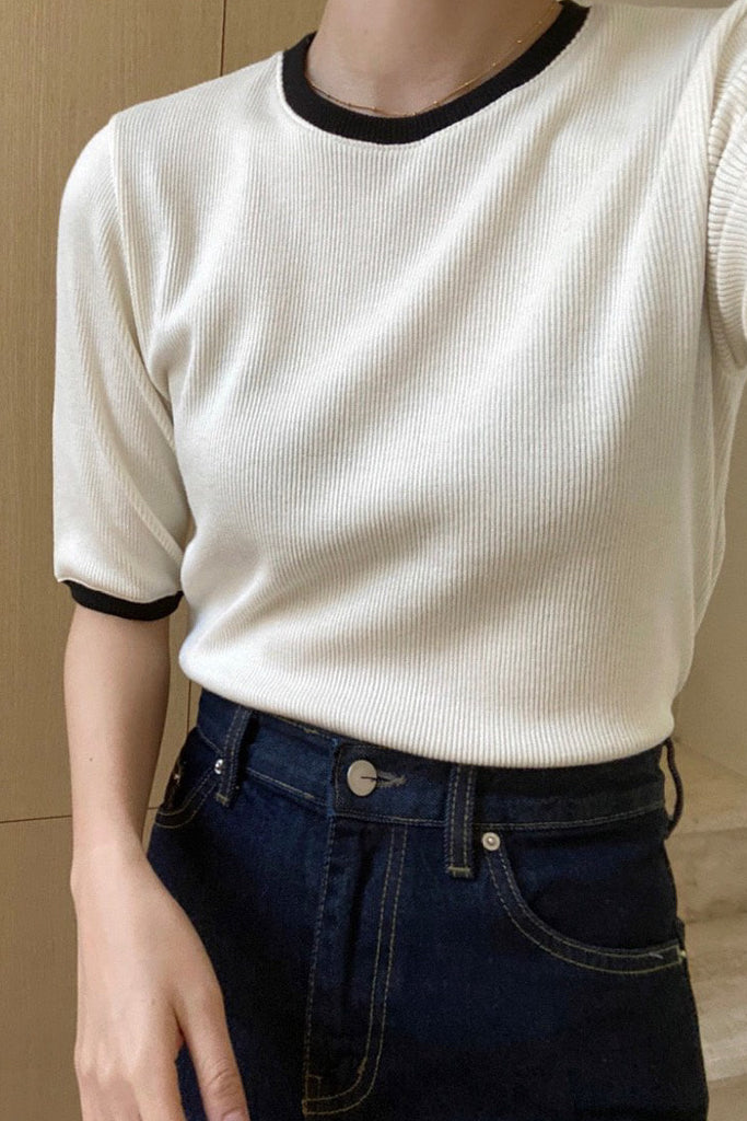 Contrast Band Knit