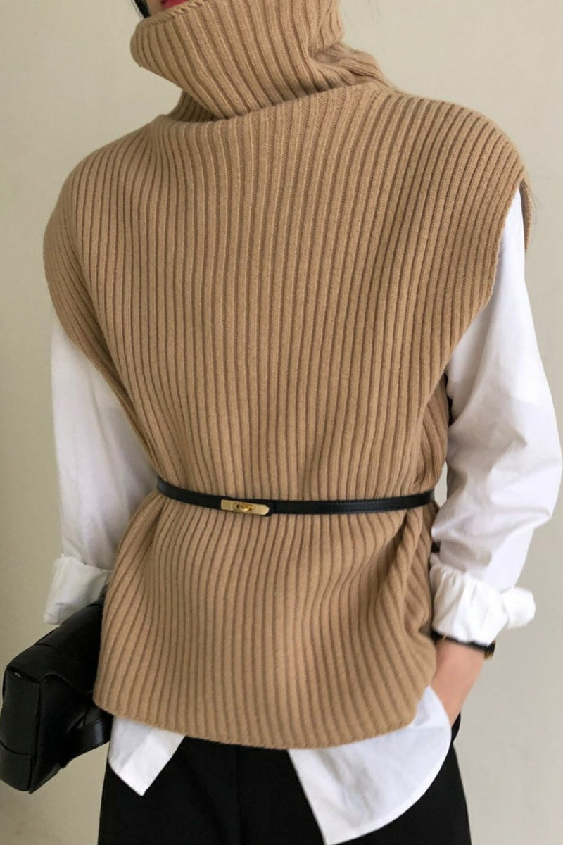 Rib Boxy Turtleneck