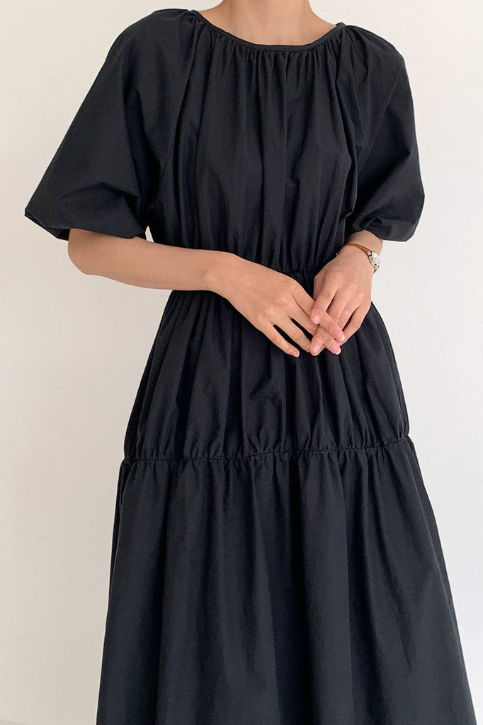 Classic Shirring Dress