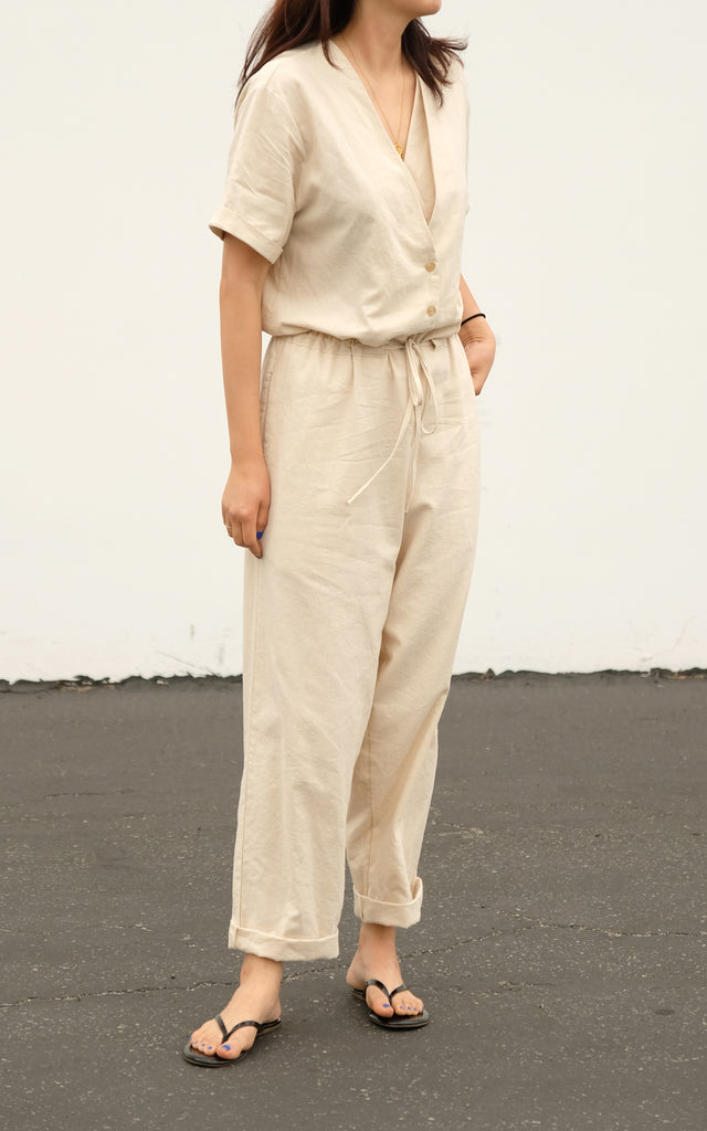 Double V-Neck Jumpsuit