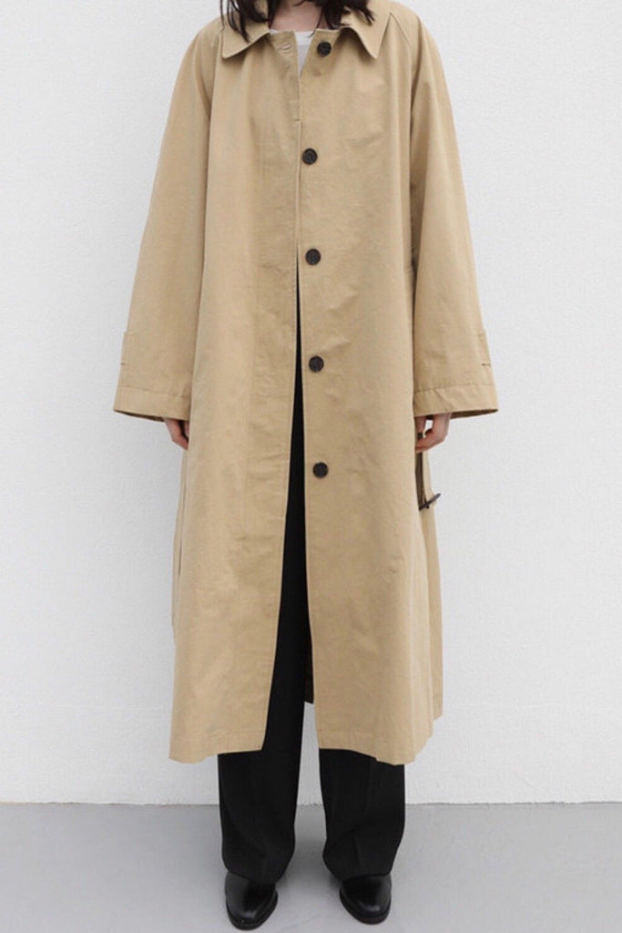 Button Detail Trench Coat