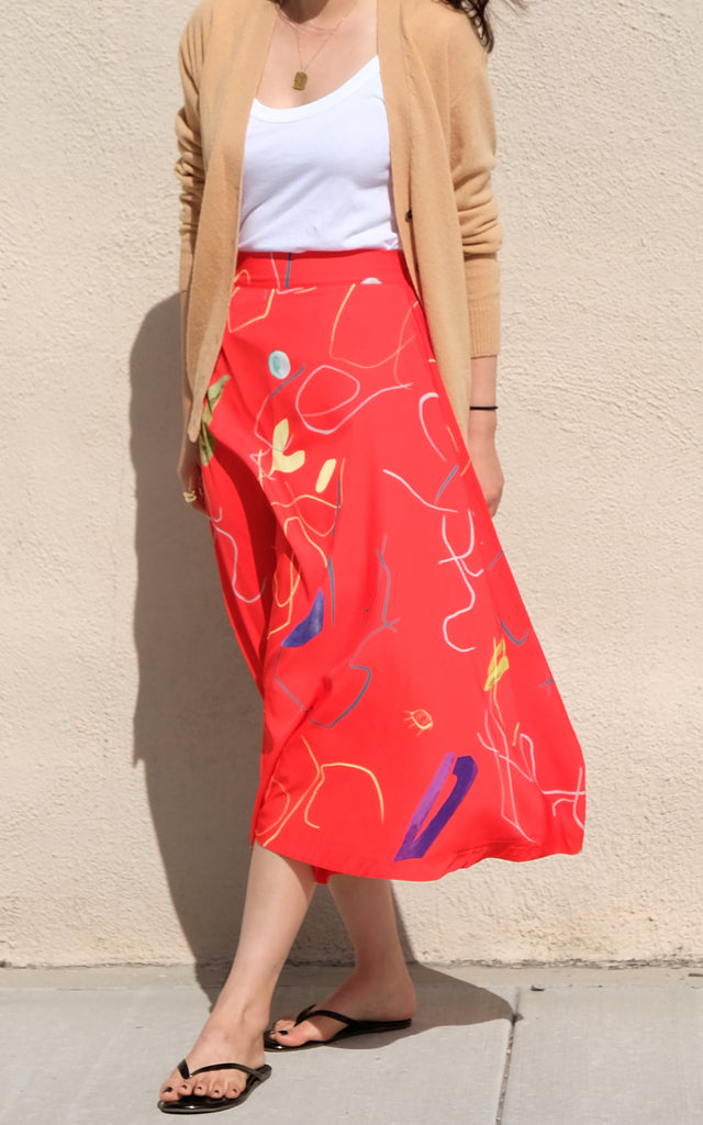 Flare Printed Skirt