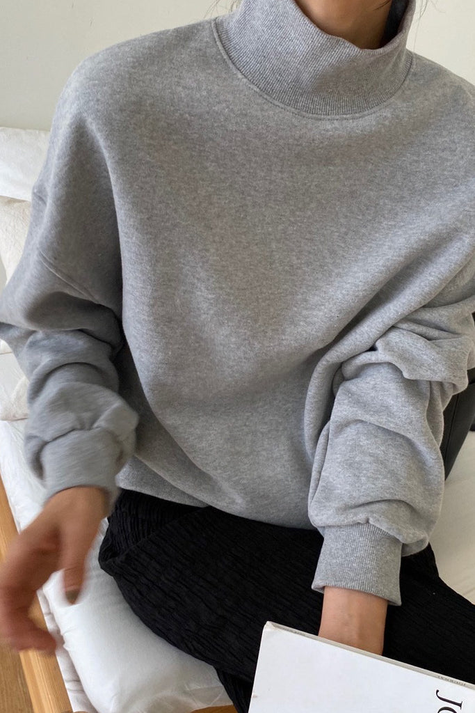 Fleece Mock Sweatshirt