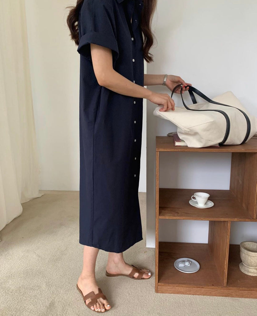 Cotton Shirt Dress