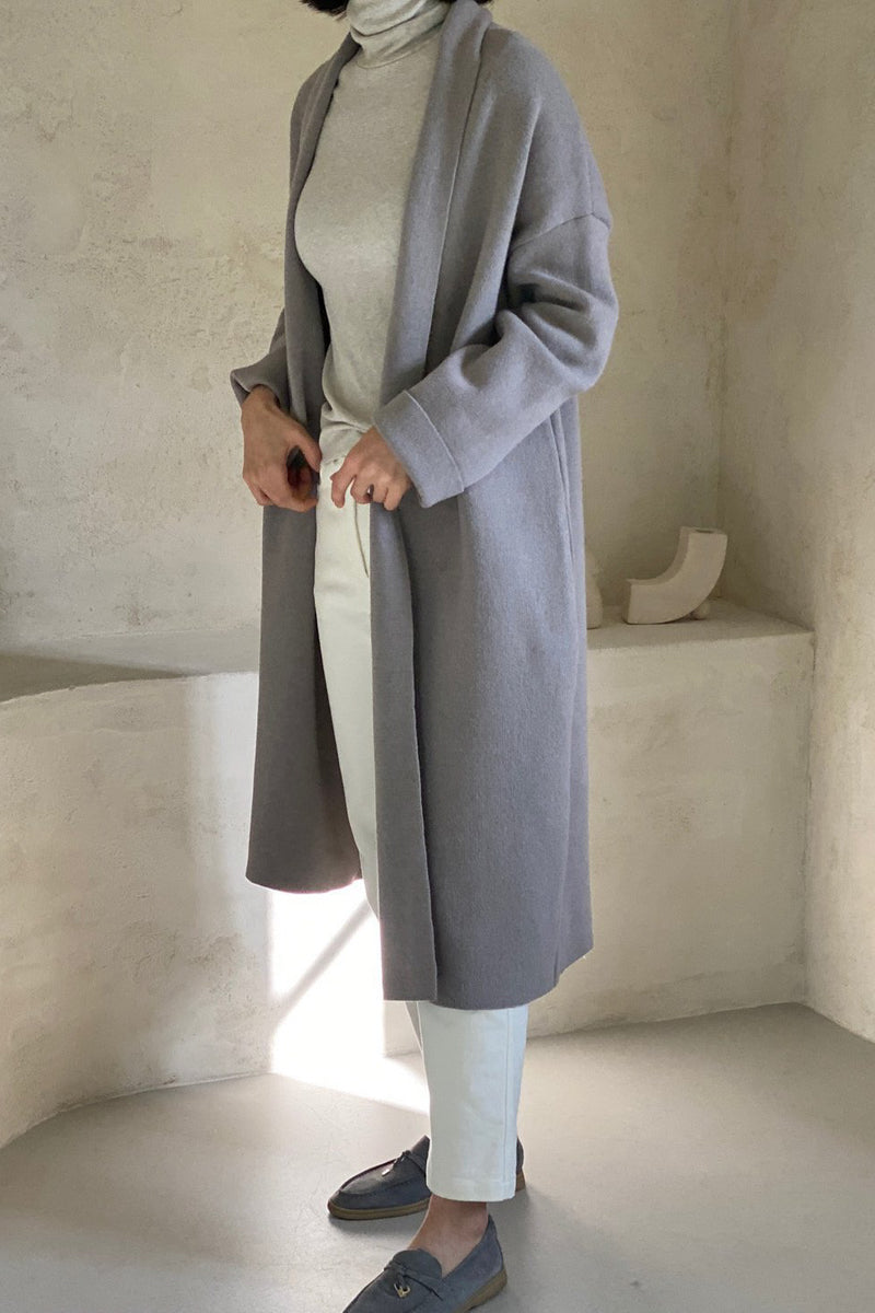 Fine Wool Long Coat Cardigan