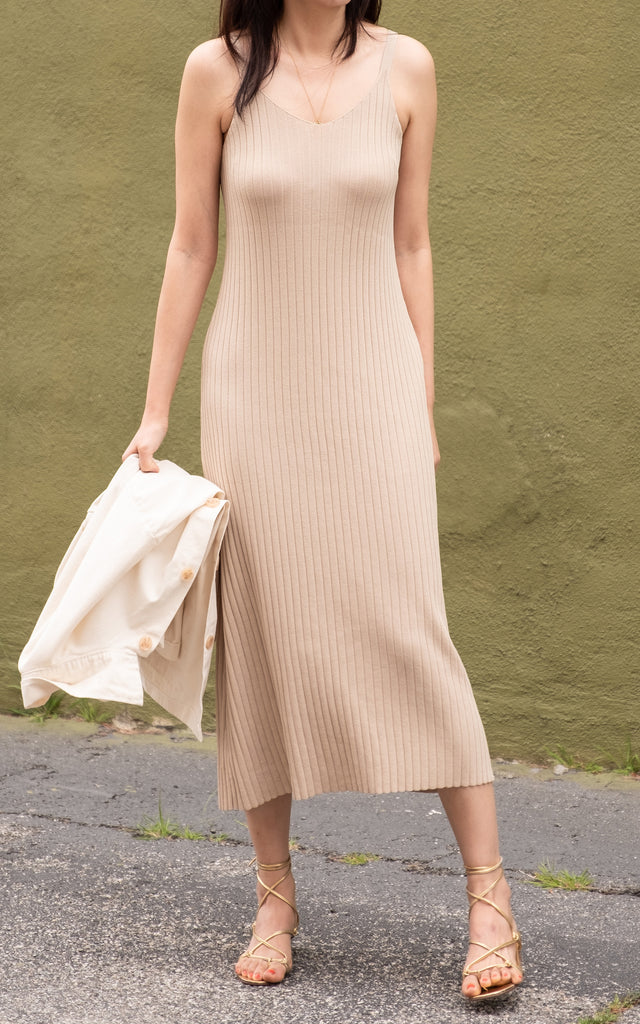 Knit Slip Dress